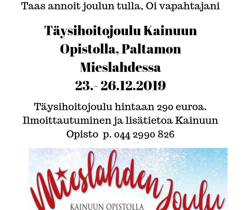 Mieslahden joulu 2019 23.- 26.12.2019