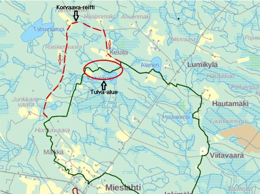 Posti-Kallen vaellus ( reittimuutos kesälle 2021)